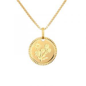 Collier Médaille Fleurs