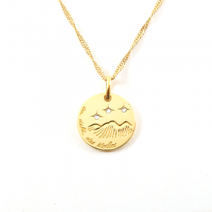 Collier Médaille Au Delà des Etoiles