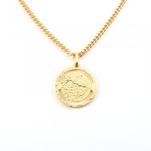 Collier Médaille Paysage Ajouré